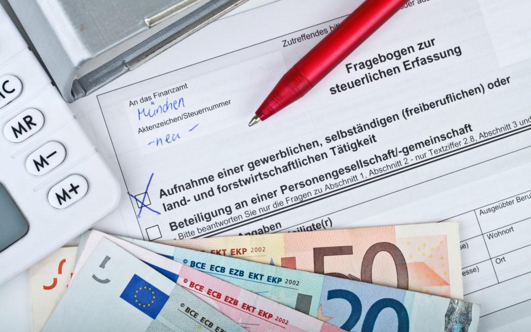 Endlich Selbständig! Und schon kommt die erste Post vom Finanzamt: Fragebogen zur steuerlichen Erfassung!